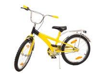 Ποδήλατο που απομονώνεται κίτρινο στο λευκό Στοκ Φωτογραφίες