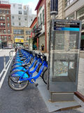 Ποδήλατο ποδηλάτων Citi που μοιράζεται το σύστημα, πόλη της Νέας Υόρκης, ΗΠΑ στοκ εικόνες με δικαίωμα ελεύθερης χρήσης