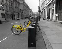 Ποδήλατο πόλεων Στοκ Φωτογραφίες