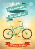 Ποδήλατο σε ένα δημιουργικό υπόβαθρο Στοκ Εικόνες