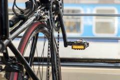 Ποδήλατο σε ένα τραίνο Στοκ Εικόνες