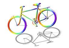 Ποδήλατο σκιαγραφιών ουράνιων τόξων που απομονώνεται Ελεύθερη απεικόνιση δικαιώματος