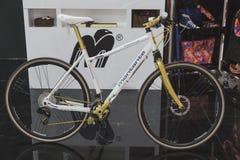 Ποδήλατο στην επίδειξη σε EICMA 2014 στο Μιλάνο, Ιταλία Στοκ εικόνες με δικαίωμα ελεύθερης χρήσης