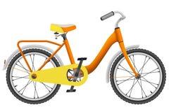 Ποδήλατο των ρεαλιστικών πορτοκαλιών παιδιών για τα αγόρια απεικόνιση αποθεμάτων