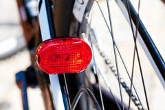 Ποδήλατο, φω'τα των ελαφριών οδηγήσεων ουρών Στοκ φωτογραφία με δικαίωμα ελεύθερης χρήσης