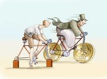 Ποδήλατο χρημάτων απεικόνιση αποθεμάτων