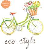 Ποδήλατο Watercolor Στοκ φωτογραφία με δικαίωμα ελεύθερης χρήσης