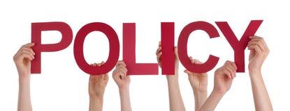 Πολλή κόκκινη ευθεία πολιτική του Word εκμετάλλευσης χεριών ανθρώπων Στοκ Εικόνες