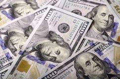 Πολλή ονομαστική αξία των λογαριασμών $ 100 Στοκ Φωτογραφία