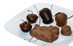 Πολλοί βυθισμένο σοκολάτα αρτοποιείο Στοκ Εικόνα