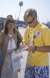 Πολίτης που καταχωρεί στην ψηφοφορία, Λος Άντζελες, Καλιφόρνια στοκ φωτογραφία με δικαίωμα ελεύθερης χρήσης
