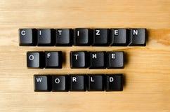 Πολίτης των παγκόσμιων λέξεων στοκ εικόνες
