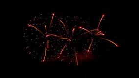 Πολλαπλάσια έκρηξη πυροτεχνημάτων απόθεμα βίντεο