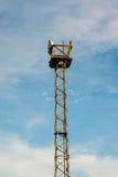 Πολλαπλάσιο αθλητικό φως με το μπλε υπόβαθρο Στοκ φωτογραφία με δικαίωμα ελεύθερης χρήσης