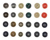 Πολλαπλάσιο ράβω-μέσω των κουμπιών που απομονώνεται Στοκ φωτογραφία με δικαίωμα ελεύθερης χρήσης