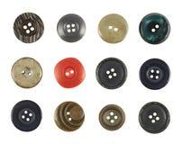 Πολλαπλάσιο ράβω-μέσω των κουμπιών που απομονώνεται Στοκ Εικόνες