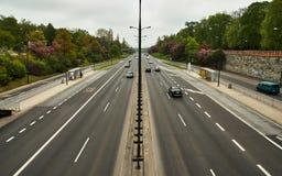 Πολλαπλής ζώνης δρόμος Στοκ Φωτογραφίες
