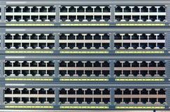 Πολλαπλότητα των λιμένων χαλκού RJ45 Στοκ φωτογραφία με δικαίωμα ελεύθερης χρήσης