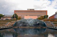 Πολεμικά αναμνηστικό πολιτιστικό κέντρο και πάρκο του Νιουκάσλ Αυστραλία με το φ Στοκ φωτογραφία με δικαίωμα ελεύθερης χρήσης