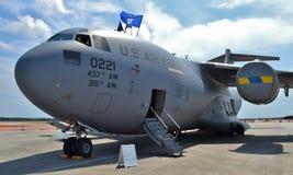 Πολεμική Αεροπορία γ-17 Globemaster ΙΙΙ αεροπλάνο μεταφοράς εμπορευμάτων Στοκ Φωτογραφία