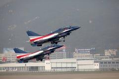 Πολεμική Αεροπορία της Κίνας J10 & J10S Στοκ εικόνες με δικαίωμα ελεύθερης χρήσης