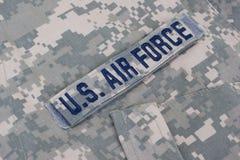 Πολεμική Αεροπορία των Η.Π.Α. ομοιόμορφη στοκ εικόνα
