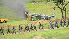 Πολεμική αναδημιουργία του παγκόσμιου πολέμου 2 απόθεμα βίντεο
