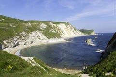 Πολεμική παραλία Lulworth Dorset ατόμων Ο ` Στοκ φωτογραφίες με δικαίωμα ελεύθερης χρήσης