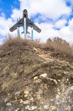 Πολεμικό αεροσκάφος mig-17 της ΕΣΣΔ Μνημείο σε Rzhev, Ρωσία Στοκ Εικόνες