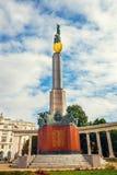Πολεμικό μνημείο - μνημείο ηρώων του κόκκινου στρατού σε Schwarzenbergplatz στη Βιέννη, Αυστρία Στοκ Εικόνα