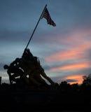 Πολεμικό μνημείο Στρατεύματος Πεζοναυτών - Iwo Jima στοκ εικόνες