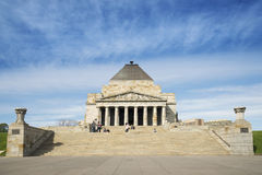 Πολεμικό μνημείο της Μελβούρνης στην Αυστραλία Στοκ Φωτογραφίες