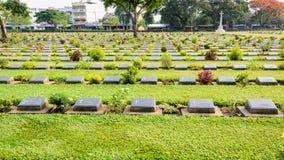 Πολεμικό νεκροταφείο Kanchanaburi (φορέστε Rak) Στοκ Φωτογραφία