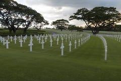 Πολεμικό στρατιωτικό νεκροταφείο Στοκ εικόνα με δικαίωμα ελεύθερης χρήσης