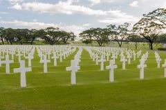 Πολεμικό στρατιωτικό νεκροταφείο Στοκ φωτογραφία με δικαίωμα ελεύθερης χρήσης