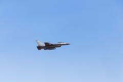 Πολεμικό τζετ γερακιών F-16 Στοκ φωτογραφία με δικαίωμα ελεύθερης χρήσης