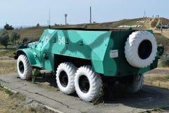 Πολεμικό όχημα πεζικού Στρατιωτικό όχημα για τους στρατιώτες στο πεδίο μάχη Στοκ φωτογραφίες με δικαίωμα ελεύθερης χρήσης