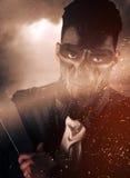 Πολεμιστής με μια ρομποτική μάσκα Στοκ Εικόνα