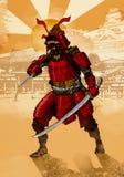 Πολεμιστής Σαμουράι Στοκ Εικόνα
