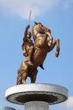 Πολεμιστής σε ένα άλογο Σκόπια Στοκ Εικόνες