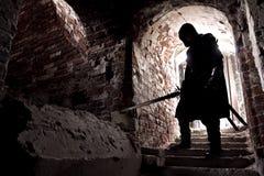 Πολεμιστής στην ξεχασμένη θέση Στοκ φωτογραφίες με δικαίωμα ελεύθερης χρήσης