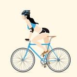 Ποδηλάτες και σταθερό ποδήλατο εργαλείων Στοκ φωτογραφία με δικαίωμα ελεύθερης χρήσης