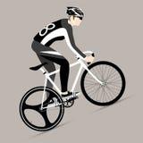 Ποδηλάτες και σταθερό ποδήλατο εργαλείων Στοκ Εικόνα