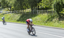 ποδηλάτες δύο Στοκ φωτογραφία με δικαίωμα ελεύθερης χρήσης