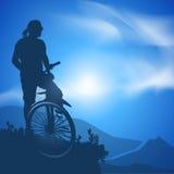 Ποδηλάτης. Διανυσματική απεικόνιση Στοκ Εικόνα