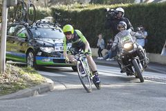 Ποδηλάτης ο αμερικανικός Andrew Talansky Στοκ Εικόνες