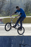 Ποδηλάτης BMX Στοκ εικόνες με δικαίωμα ελεύθερης χρήσης
