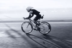 Ποδηλάτης, triathlon Στοκ Φωτογραφία