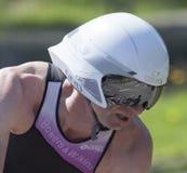 Ποδηλάτης Triathlon Στοκ Φωτογραφίες