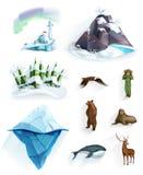 Πολικά εικονίδια φύσης Στοκ Εικόνες